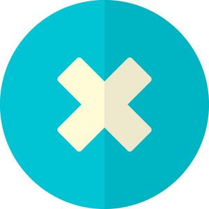 Funky Button Delete Icon