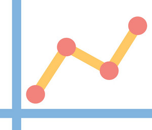 Funky Chart Up Icon