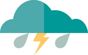 Funky Cloud Flash Icon