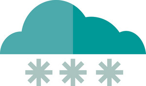 Funky Cloud Snow Icon