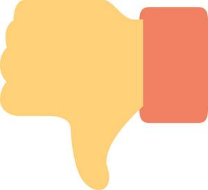 Funky Dislike Icon