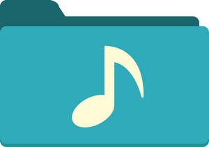 Funky Folder Music Icon
