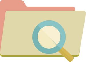 Funky Folder Search Icon