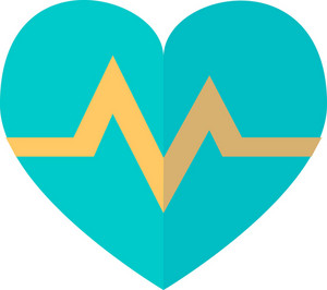 Funky Heart Electrocardiogram Icon