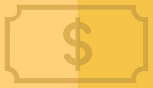 Funky Money Dollar Icon
