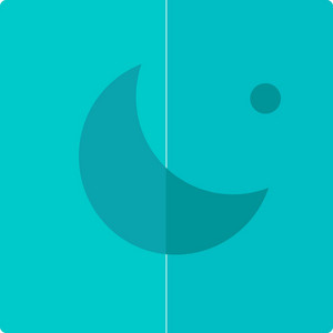 Funky Moon Button Icon