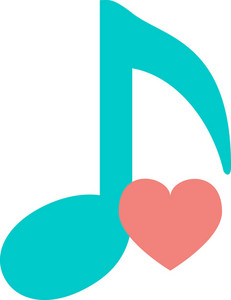 Funky Music Love Icon