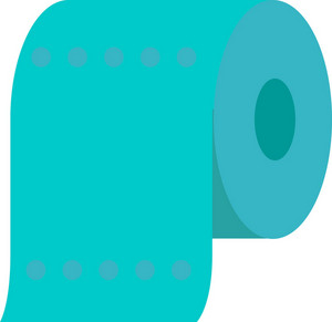 Funky Paper Roll Icon