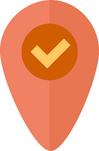 Funky Pin Map Check Icon