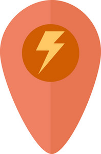 Funky Pin Map Flash Icon