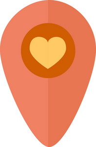 Funky Pin Map Love Icon