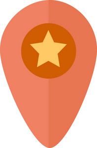Funky Pin Map Star Icon
