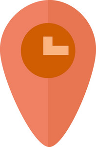 Funky Pin Map Time Icon