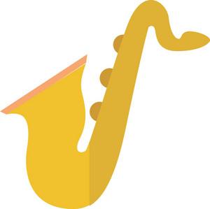 Funky Saxophone Icon
