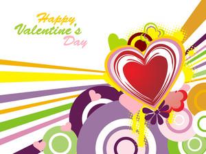 Funky Valentine Background