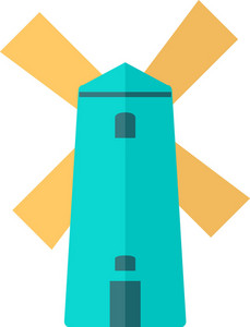 Funky Windmill Icon
