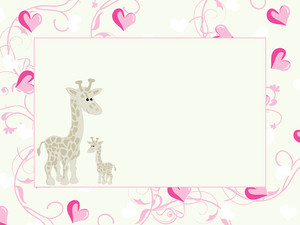 Funny Background With Giraffe