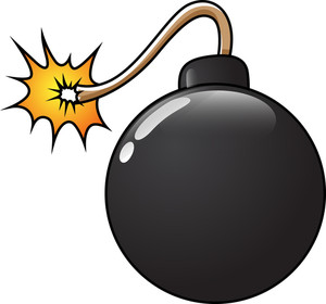 Funny Bomb Vector Illustration