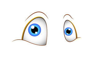 Funny Cartoon Eyes Expression