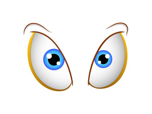 Funny Cartoon Female Eyes