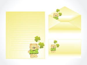 Funny Cartoon Letterhead And Postcard