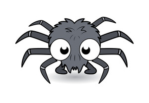 Funny Cartoon Spider - Halloween Vector Illustration