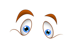 Funny Cartoon Vector Eyes Expression