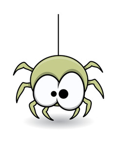 Funny Cute Spider - Halloween Vector Illustration