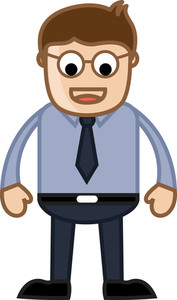 Funny Eyes Man - Business Cartoon Character Vector