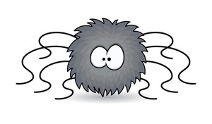 Funny Furry Spider Cartoon - Halloween Vector Illustration