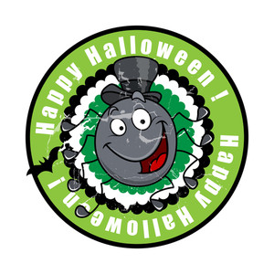 Funny Happy Halloween Spider Character