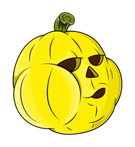 Funny Jack O' Lantern - Halloween Vector Illustration