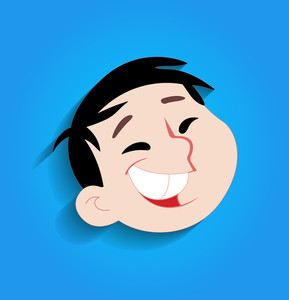 Funny Kid Laughing Face