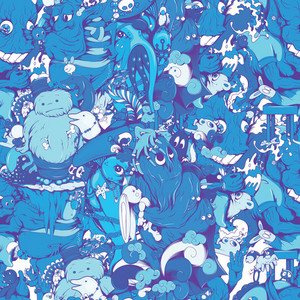 Funny Monsters Seamless Pattern Vector Illustration