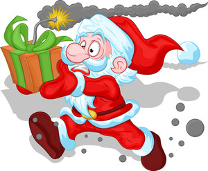 Funny Santa Claus Concept - Christmas Vector Illustration