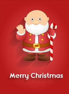 Funny Santa Claus Greeting Vector