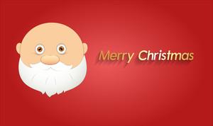 Funny Santa Claus Xmas Banner