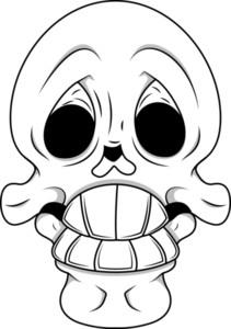 Funny Skull Vector