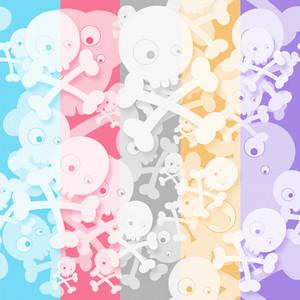 Funny Skulls Seamless Texture