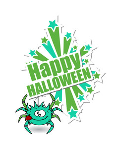 Funny Spider Halloween Background