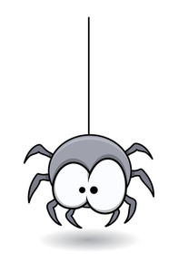 Funny Spider - Halloween Vector Illustration
