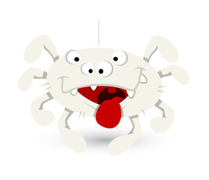 Funny Spider Tongue Out Vector