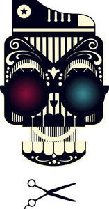 Funny Sugar Skull Vector T-shirt Design