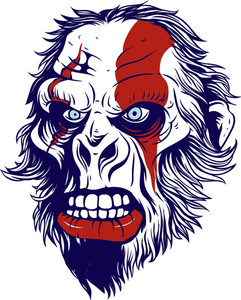 Funny T-shirt Design With Gorilla
