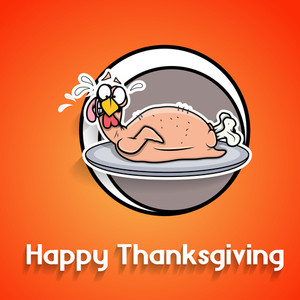 Funny Turkey Chicken Thanksgiving Day Greeting