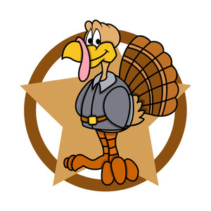 Funny Turkey With Star Graphic