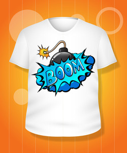 Funny White T-shirt Design Vector Illustration Template