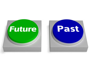 Future Past Buttons Shows Destiny Or History