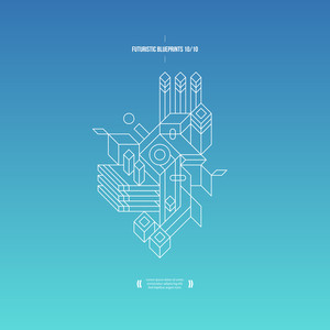 Futuristic Blueprint On Gradient Background. 10 Of 10. Eps10.