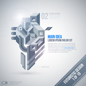 Futuristic Design Template With Geometric Element. 1 Of 10. Eps10.